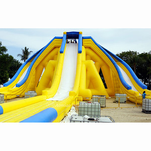 New design amazing largest inflatable water slide with double inflatable slip n slide