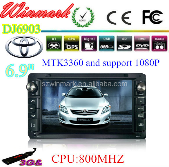 2014 special car DVD player with MTK3360 platform for Toyota COROLLA with CAN-BUS,USB,BT,GPS,Radio,3G,DTV, AUX,AV,VMCD,MIC,etc