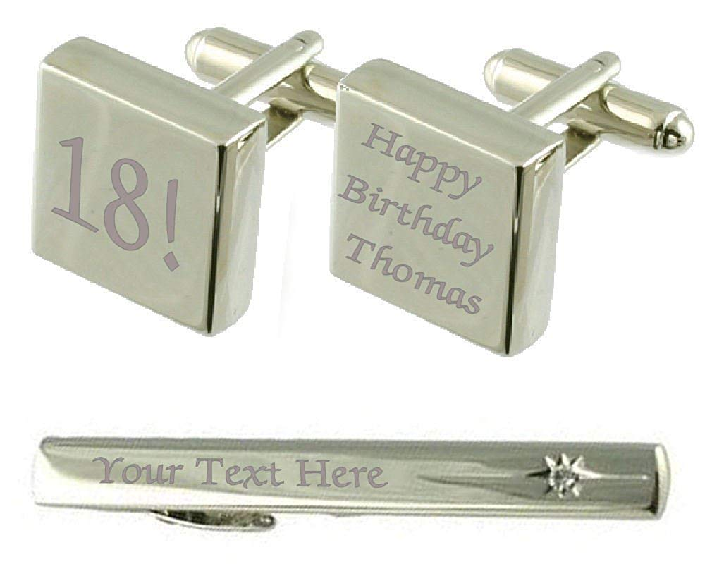 Get Quotations Select Gifts Birthday Age Year Engraved Cufflinks Tie Clip Box Set