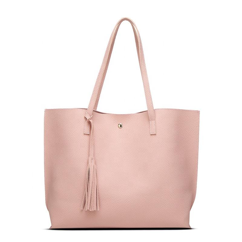 C-SWY-08 Venta caliente nueva llegada personalizar de marca bolso de moda bolso con borla 2019 bolso de cuero para las mujeres