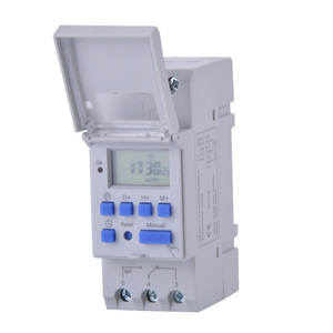 Electronic Weekly 7 Days Programmable Digital TIME SWITCH Relay Timer Control AC 220V 230V 12V 24V 48V 16A Din Rail Mount THC15A
