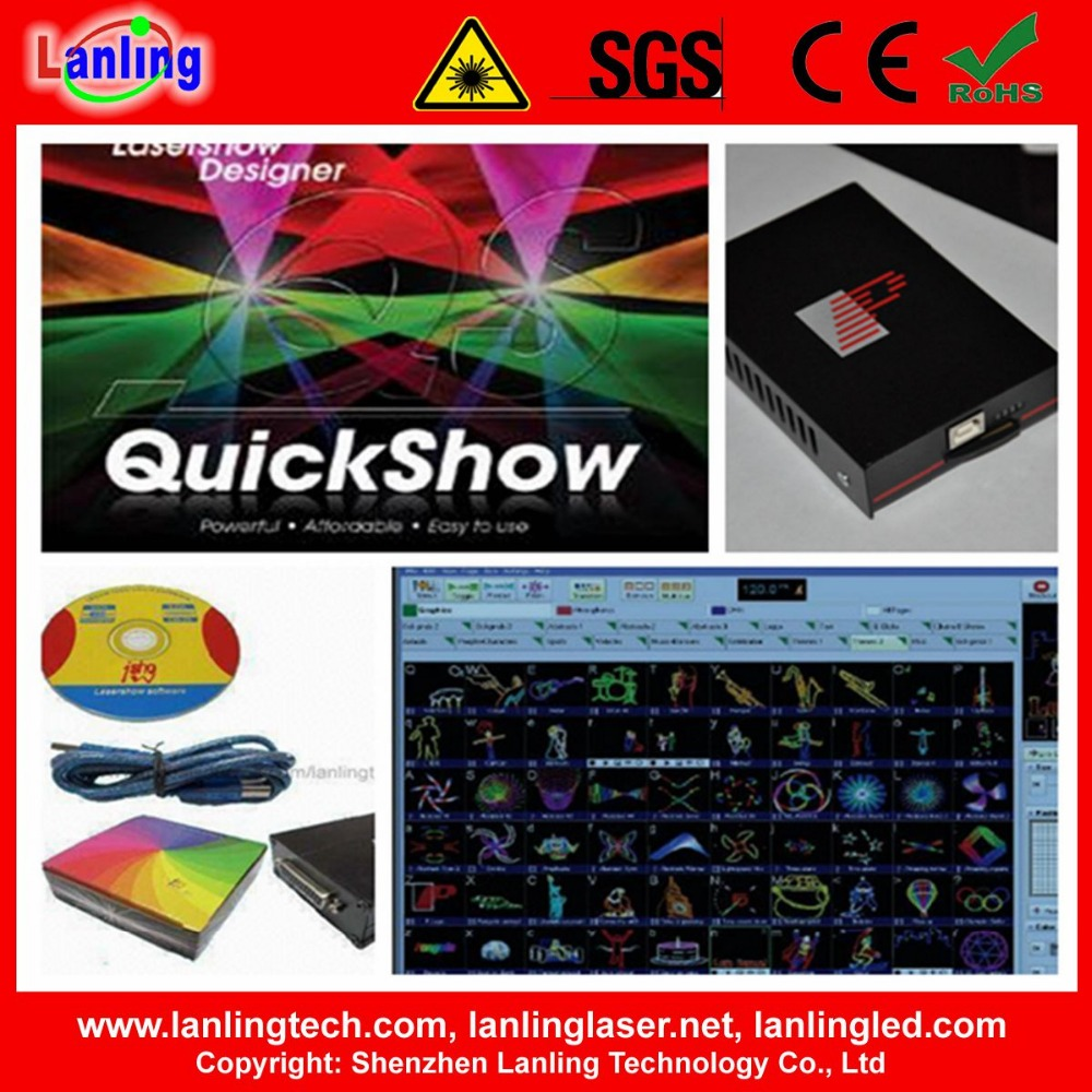 Pangolin QuickShow laser software for ILDA Animation Laser lights