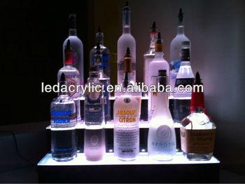 24 led lighted bar shelvesthree stepled liquor bottle displ 24quot led lighted bar shelvesthree stepled liquor bottle displ display mozeypictures Gallery