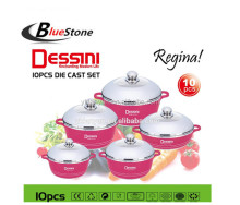 Dessini color 10pcs soup pot set ceamic coating 10pcs cookware set nonstick pan set