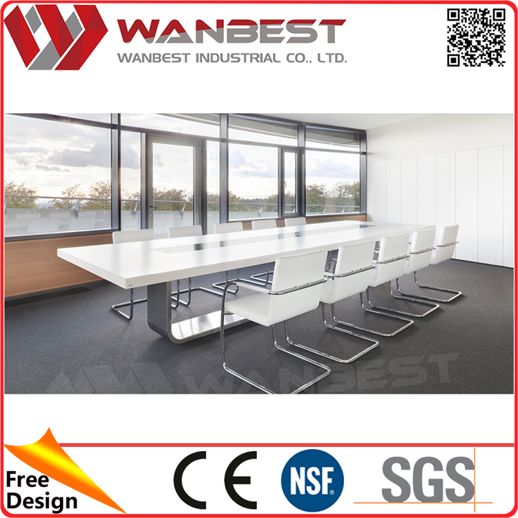 High Quality Person Long Board Room Conference Table Marble Top - Marble conference table for sale