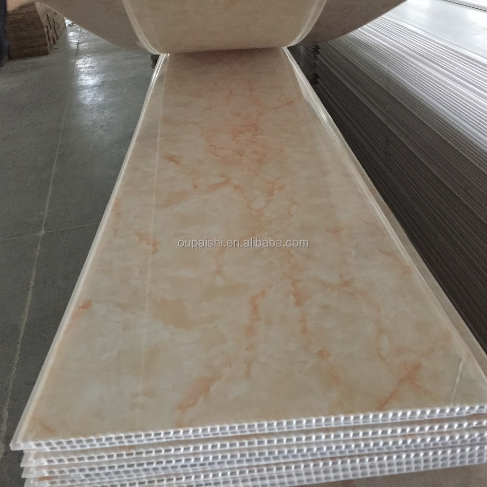 400*8mm marbling hot stamping pvc ceiling & pvc wall panel
