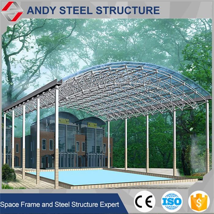Customized Steel Pipe Truss Rustless Roof Design For Swimming Pool - Buy  Steel Pipe Truss Swimming Pool Rustless Roof,Customized Rustless Roof For