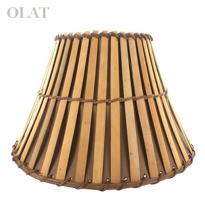 Upgradelights All Natural Bamboo Washer Fitted Lampshade