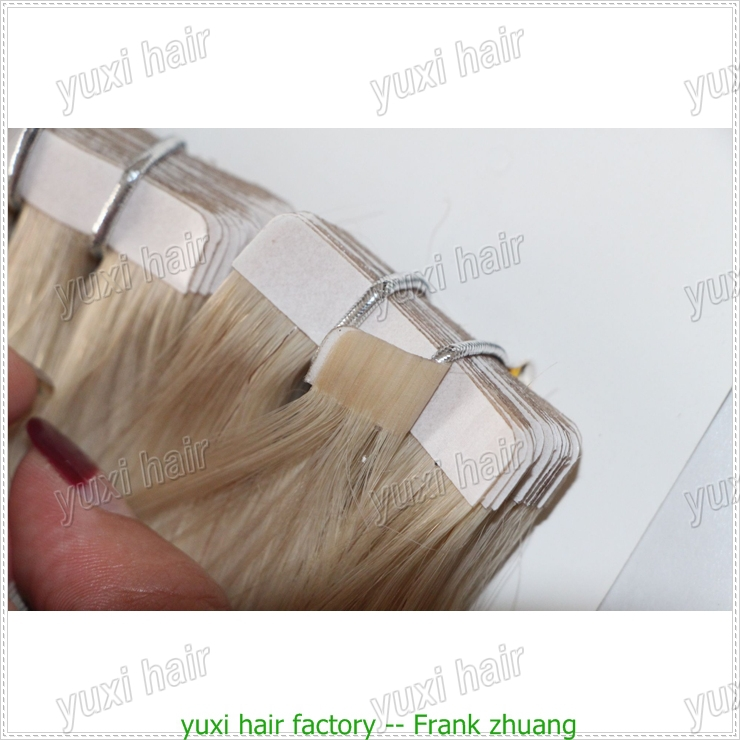 luxury quality real russian hair tape hair extensions