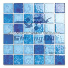 wholesale price 100% porcelain pool mosaic ceramic for swimming pools,spas,23x23mm(1x1 inch),48x48mm(2x2 inch)