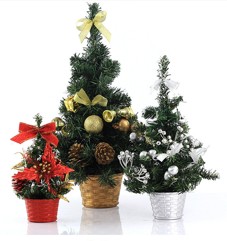30cm artificial mini plastic christmas trees for car