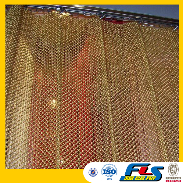 Metal Coil Drapery For Hotel Ceiling Fireplace Mesh Curtain Buy
