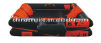 latest SOLAS approved 6 persons open reversible inflatable life raft with GL certificate