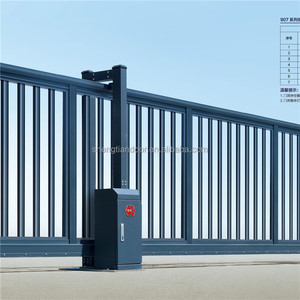 Factory main entrance automatic sliding gate remote control