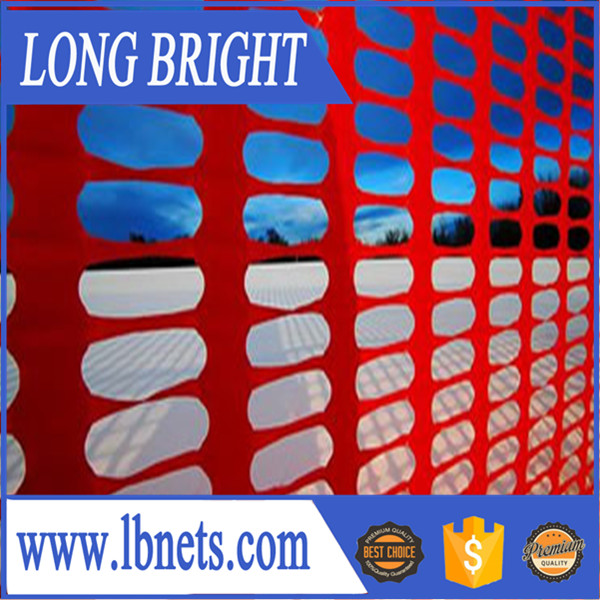 Heavy duty plastic snow fence barrier mesh
