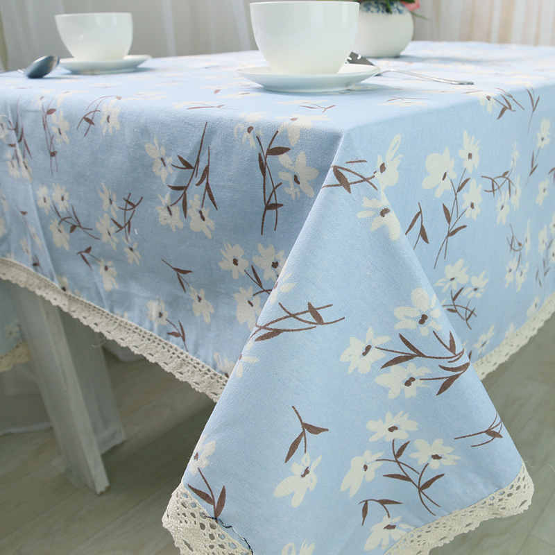 9 Size <font><b>Elegant</b></font> High Quality Cotton & Linen Lace Table Cloth Dustproof Square Splicing Tablecloths <font><b>Home</b></font> <font><b>Decor</b></font> toalha De Mesa