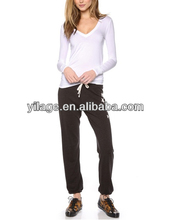 New Arrival Fold and Beam with Elastic Waist /Elastic Ankle Casual Woman Pants with Shining Stars