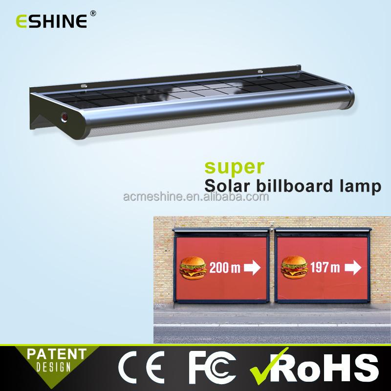 Integrated Solar Led Billboard Light Super Power Outdoor Sign Lighting Ultra Thin Solar Panel Advertisement Buy Integrated Solar Led Billboard