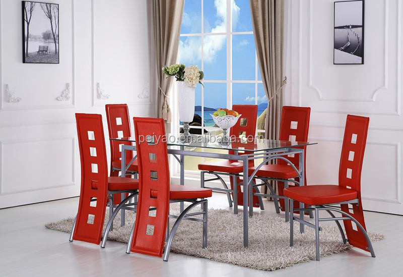 Red Modern Design Dining Table Furniture   Buy Red Dining Room Set,Modern  Design Furniture,Famous Designers Furniture Product On Alibaba.com