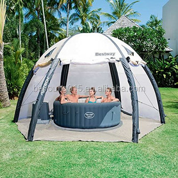 Bestway lay z spa pavillon transparent inflatable pool for Bestway piscine service com