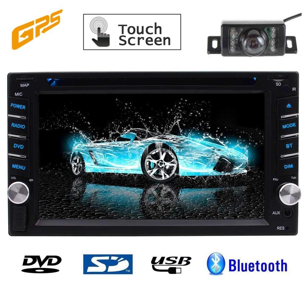 Eincar Free Rear Camera Included!! Car Video Player 6.2-Inch Autoradio Double-2 DIN In Dash Car DVD Player Touch screen LCD Monitor with GPA Navi DVD/CD/MP3/MP4/USB/SD/AM/FM/RDS/Bluetooth/SWC/Audio