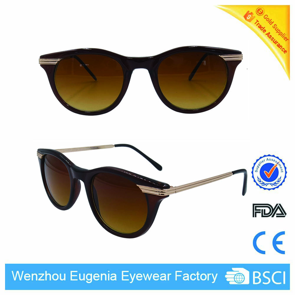 sunglasses women metal temple polarized lens custom sunglasses 2016