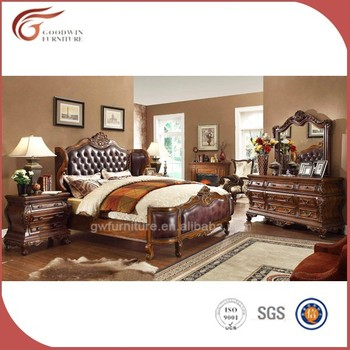 King Size Luxury Leather Bedroom Set,Royal Bedroom Set - Buy Leather ...