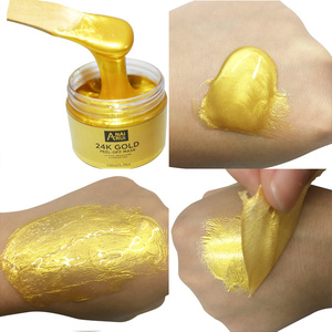 Beauty face mask skin care whitening collagen crystal anti aging 24k peel off gold face mask