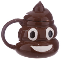 OXGIFT China Supplier Wholesale Manufacturing Factory Price Amazon Stool Poo shaped tea Ceramic coffee water cup mug
