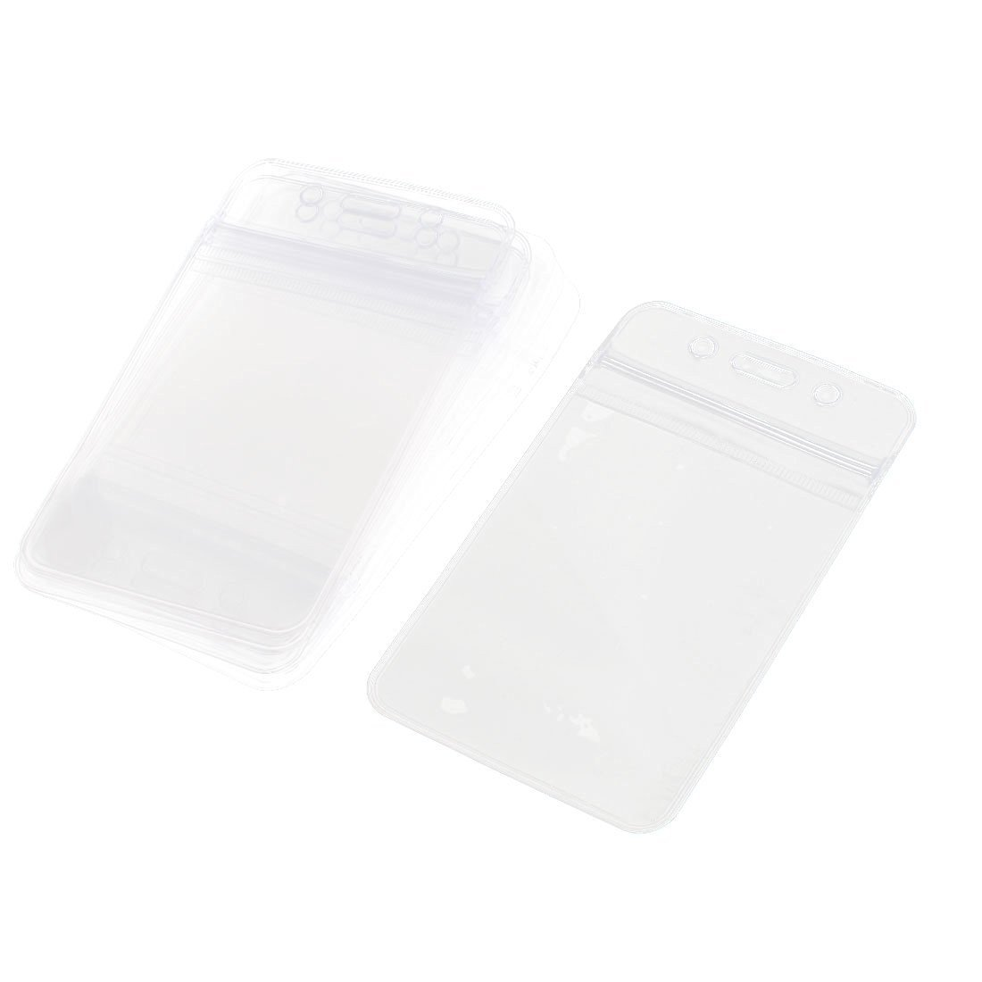 Uxcell Plastic Vertical ID Work School Card Badge Holder, 10 Piece, Clear