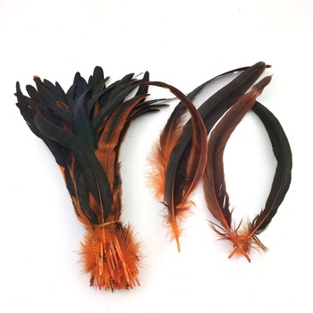 Wholesale 25-30cm Direct Dyed Rooster / cock tail Feathers pluma for cheap sale