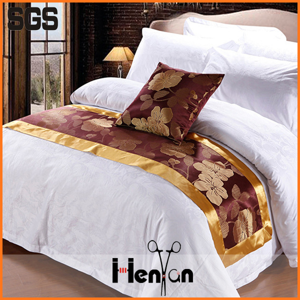 wholesale custom hotel bed runner, bed runner and cushion sets