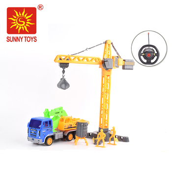 Cheap Sale 4ch Excavator Toy Construction Truck Remote Control For