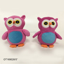 Wholesale custom mini stuffed animal pink plush elf owl soft toy