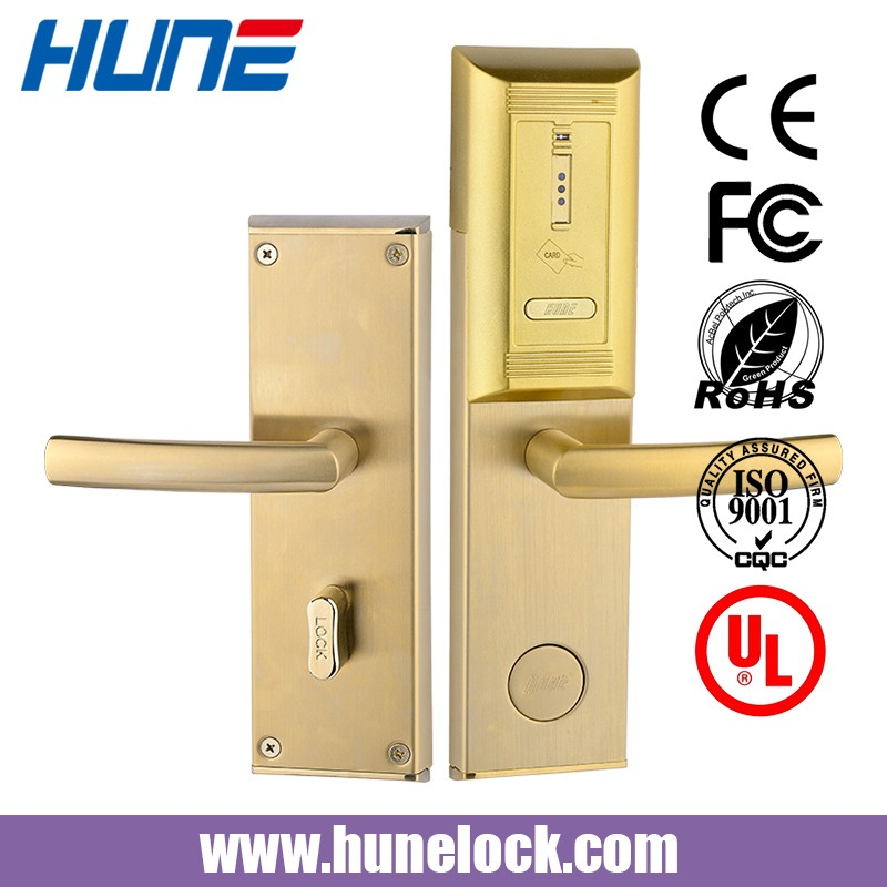 keyless electronic card reader door lock for hotel door