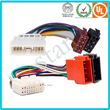 brand car radio wire harness 24 pin male female iso wire harness Panasonic Car Stereo Wiring 7 Pin brand car radio wire harness 24 pin male female iso wire harness