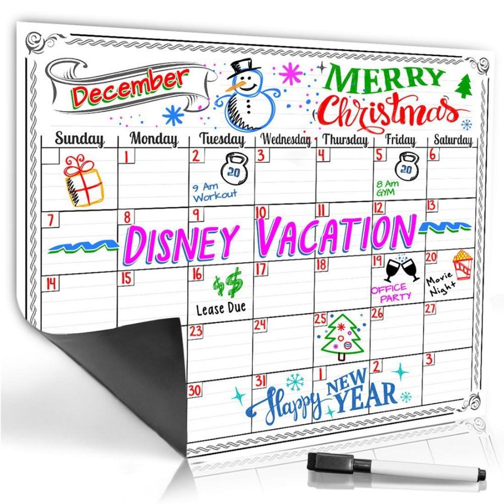 Wisedom Planner S Monthly Magnetic Refrigerator Calendar Dry Erase