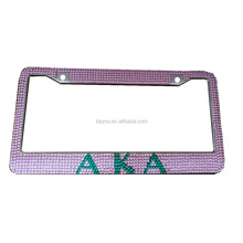 Bling Alpha K Alpha Sorority Diva custom Logo Nummerplaat Frame