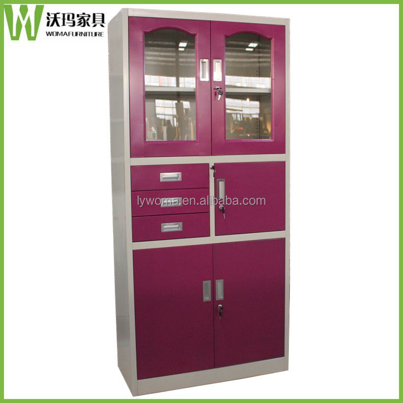 New Design Red Office Tall Filing Cabinet With 3 Drawers,Steel Glass Door  Workforce Storage Cabinet   Buy Tall Cabinet With Drawers,Workforce Storage  ...