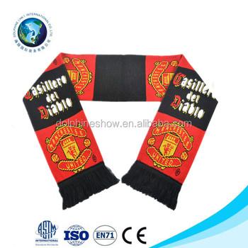 2016 Hot Sell Custom Football Scarf Knitting Pattern Acrylic Buy