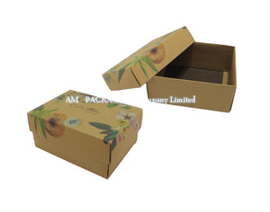 ribbed kraft brown paper box with lid rectangle soap packaging boxes