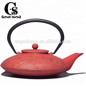 Japanese-Style Cheap Coloring Cast Iron Teapot with infuser