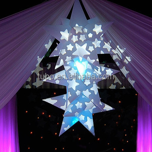 PVC inflatable glitter lighted hanging christmas led star decoration