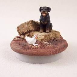 """Conversation Concepts Miniature Rottweiler Candle Topper Tiny One """"A Day on the Farm"""" (Set of 6)"""