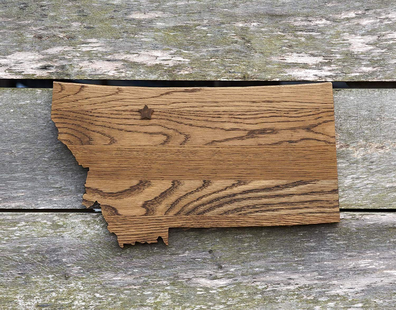 Louisiana State Shape Wood Cutout Sign Wall Art In Oak 17