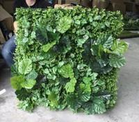 Indoor customized artificial leaves plant wall green wall module artificial green wall plastic plant wall