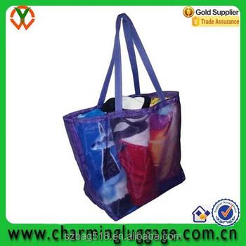 21f1f47c1 pattern tote shoulder transparent pvc beach bag material/ mesh bag for  shower