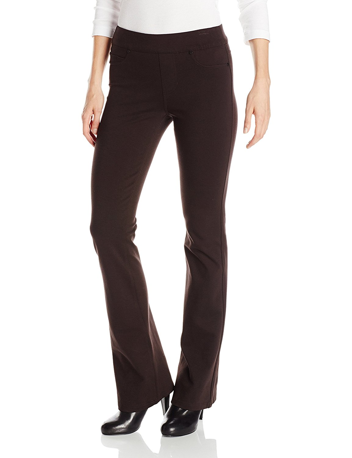 Liverpool Jeans Company Women's Liverpool Kimberly Pull-On Bootcut Mid Rise In Ponte Knit