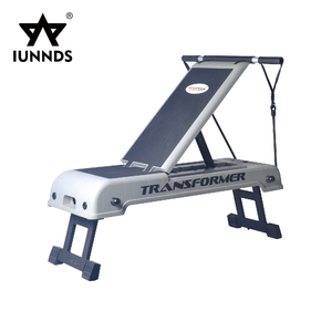 Versatile adjustable folding exercises stepper aerobic step with resistance bands