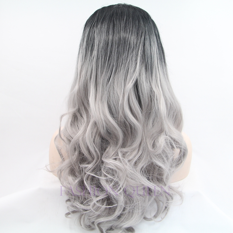 Buy High Quality Cheap Long Ombre Two Tone Black Mixed Grey Body